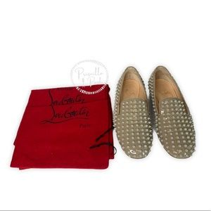 Christian Louboutin Rolling Spikes Loafer in Stone